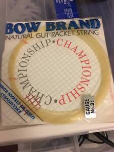 Bow Brand Natural Gut String Edberg Tennis Badminton String 0.8mm Toowong Brisbane North West Preview
