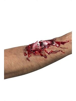 Neu Knochenbruch Narbe Halloween Kostüm Blood Zombie Blutig Make-Up + Kleber