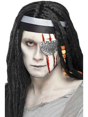 Halloween Smiffys FX Make UP Latex Pirate Eye patch Mutilation Scar & Adhesive - Halloween Eye Patch Makeup