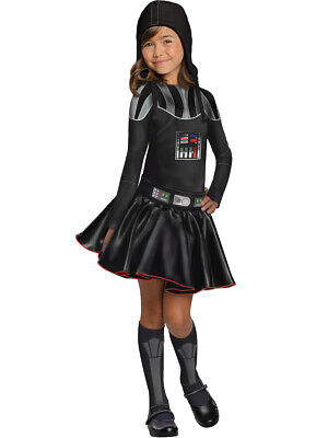 Childs Girls Star Wars Evil Sith Lord Darth Vader Costume Large 12-14