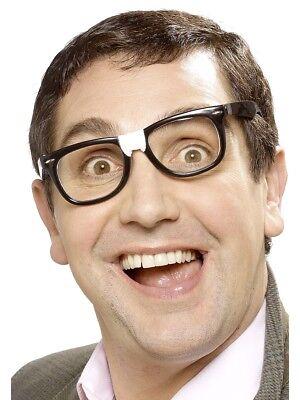 Geek Brille mit Gips Brille Herren Damen Schuljnge Kostüm Zubehör