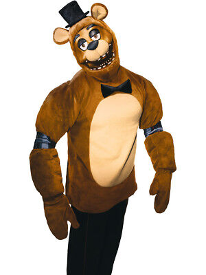 Adults Five Nights At Freddy's Plush Freddy Bear Survival Horror Costume