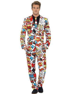 Adult Comic Strip Suit Costume  - Comic Suit