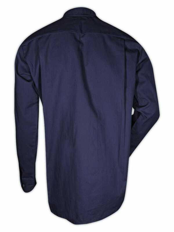 Magid Dual-Hazard 7.0 oz. FR 88/12 Navy Work Shirt