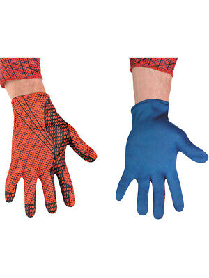 Adult The Amazing Spider-Man Red and Blue Costume Accessory Gloves