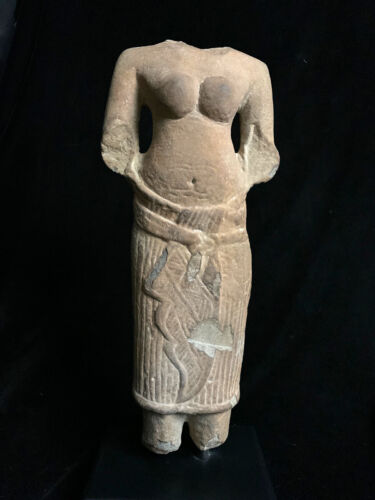 Authentic SE Asia Cambodia Khmer Angkor sandstone female torso 12th-13th c