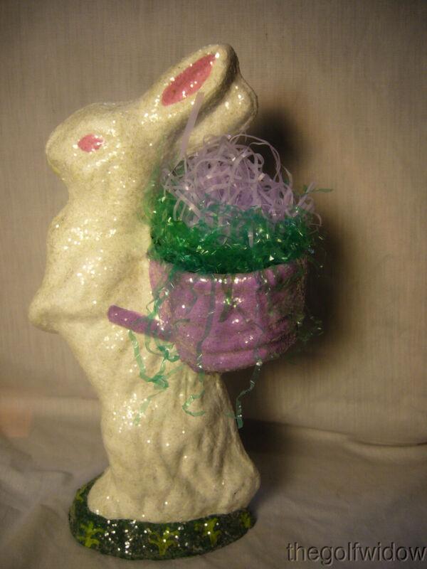 Handmade Christopher James Paper Mache Standing White Duck for Easter