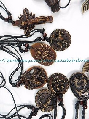 US SELLER -  20 pieces vintage inspired pendant necklaces hippie jewelry