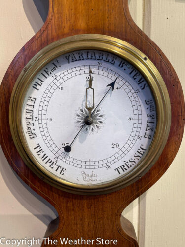 Antique French Wheel Barometer