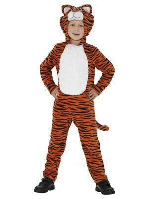 SMIFFY 46754 Tiger Tigerkostüm Raubkatze Katze Karneval Jungen Kostüm S M (Tiger Kostüm Jungen)