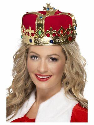 Smiffy 21971 Königin Krone mit Deko Juwelen Mittelalter Karneval Kostüm Zubehör - Rote Königin Kostüm Zubehör