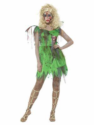 SMIFFY 46860 Zombie Fee Elfe Pixie Fairy Märchen Karneval Damen Kostüm grün XS S