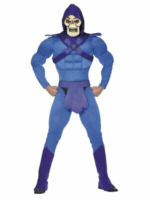 Mens Skeletor Costume He-Man Master Of The Universe Skeleton 1980s Fancy Dress - Master Of The Universe Halloween Costume