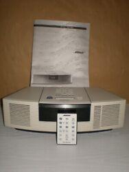 Bose Wave Radio CD Player Alarm Clock AWRC-1P with Remote -White Manual Guide