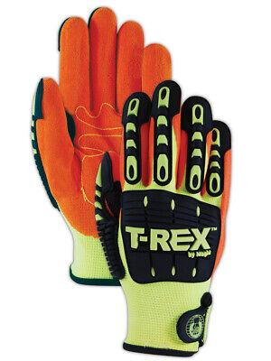 NEW MAGID T-REX TRX500 Machine-Knit Hi-Viz Impact Gloves Work Gloves Cut Level 1 - T Rex Gloves