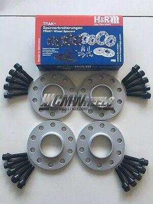 ALLOY WHEEL SPACERS 12mm x2 15mm x2 BLACK BIMECC M12X1.5 LOCKS FOR BMW 1 3 72