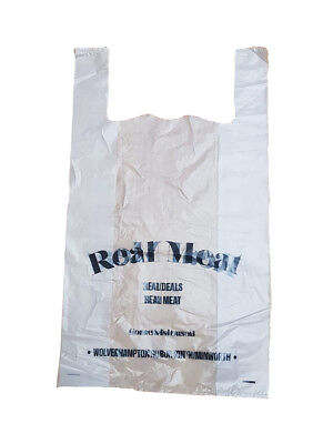 100 STRONG CLEAR CARRIER BAGS VEST MISPRINTED 13