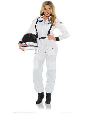 Female Astronaut Costume (Women's White Astronaut Female Cut Jumpsuit)
