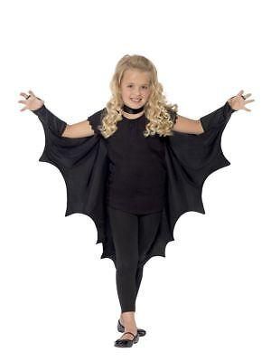 Girl's Kids Halloween Fancy Dress Costume Vampire Bat Wings Parties Disco Fun - Kostüm Vampir Disco