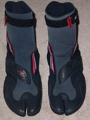 Rip Curl 3mm womens wetsuit split toe Booties size 11 swim snorkel water sport