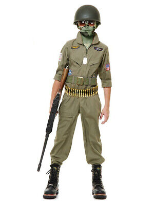 Child Top Gun Wing Man Pilot Flight Suit Costume (Top Gun Costume Kids)