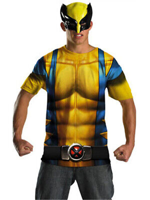 X-men Costumes For Men (Adult Marvel X-Men Wolverine T-Shirt & Mask)