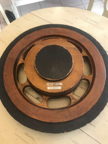 Large hanging industrial wood foundry mold wheel form casting steampunk AWESOME