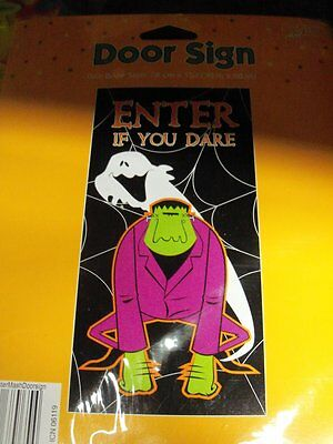 1 Halloween Door Cover Sign  Enter If You Dare Decoration Party
