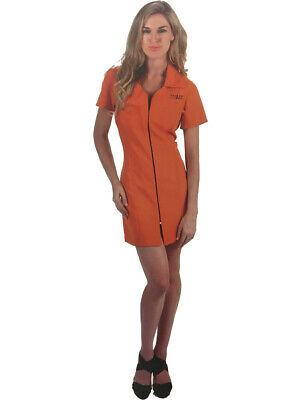 Orange Convict Costume (Women's Orange Prisoner Sexy Convict Costume)