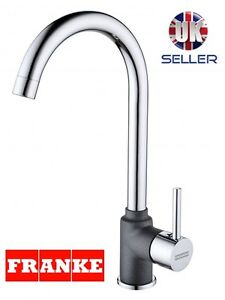 FRANKE CHROME/ONYX SWIVEL SPOUT MONO KITCHEN SINK BASIN MIXER TAP SINGLE LEVER