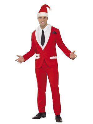 Smiffys Weihnachtsmann Cool Dapper Erwachsenen Herren Weihnachten Kostüm - Coole Herren Kostüm