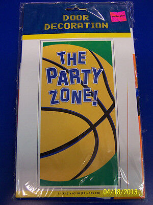 Championship Basketball Sports Birthday Party Zone Plastic Wall Door Decoration