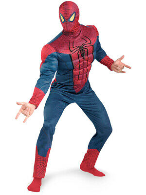 The Amazing Spider Man Costume Adult (Adult Marvel The Amazing Spider-Man Muscle Chest Costume Plus Size)