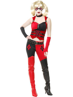 Womens Sexy Black And Red Harley Quinn Style Corset Costume](Corset Harley Quinn)