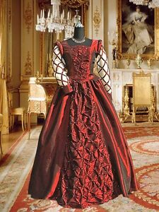 Renaissance-Costume-Medieval-Style-Pear-Ornamented-Dress-Gown-Clothing