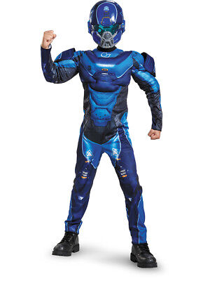 Child's Boys Halo Guardians Nightfall Spartan IV Blue Armor Costume - Kids Halo Costumes