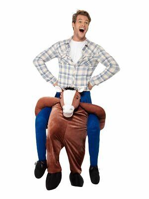 Huckepack Pferd Kostüm Erwachsene Tier Kostüm Outfit mit Mock Beine
