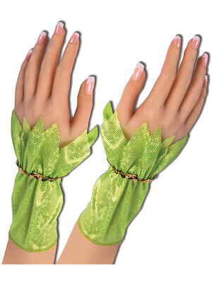 Adult's Womens Green Pixie Fairy Gloves Costume Accessory - Adult Green Fairy Costume