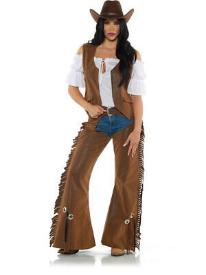 Cowgirl Costumes Women (Women's Wild West Cowgirl Cattle Rustler)