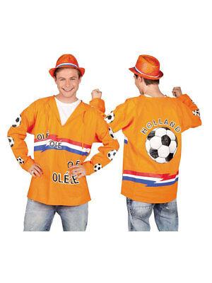 Kostüm für Erwachsene Karnevals Kittel Fussball Orange Party - Fußball Kostüm Für Erwachsene