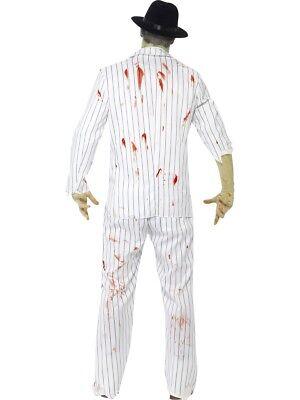 Zombie Gangster Herren Verkleidung Kostüm Halloween Mafia Outfit M, L