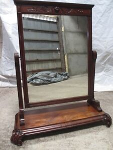 19th-Century-rectangular-flame-Mahogany-cheval-dressing-swing-mirror-ref-290