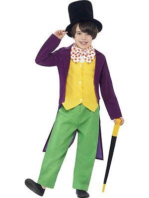 Boys Roald Dahl Willy Wonka Book Day Character Fancy Dress Costume - Willy Wonka Characters Costumes