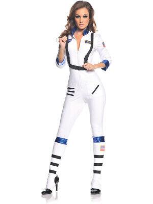 Women's White Blast Off Astronaut Jumpsuit Costume (Astronaut Costume Women)