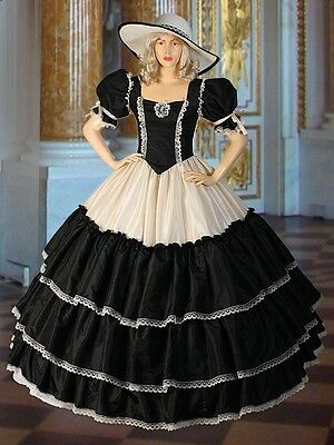 Civil War era Wide Dress Renaissance Ball Wide Gown Fantasy Victorian Costume - Renaissance Era Costumes