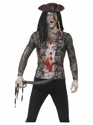 SMIFFY 45564 Zombie Pirat Piratenshirt Shirt Zombiekostüm Karneval Herren Kostüm