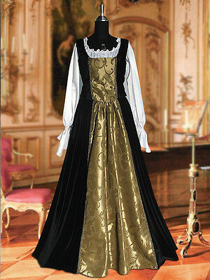 Medieval Renaissance Baroque Dress Ensemble with Skirt, Chemise, and - Chemise Renaissance Kostüm