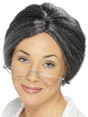 Old Lady Gram Granny Bun Wig Costume Accessory](Old Lady Wig)