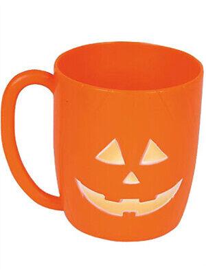New Plastic Halloween Pumpkin Party Mugs Beer Glasses](Halloween Pumpkin Beer)