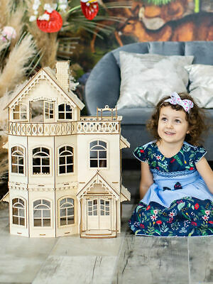 Only 3 days! Set Of Furniture & Wooden Doll House. 70*30*30. For Barbie, Winx ..